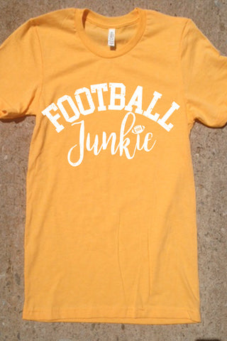 Football Junkie - Heather Yellow Gold with White