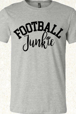 Football Junkie - Athletic Heather