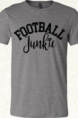 Football Junkie - Deep Heather Gray