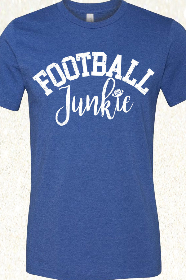 Football Junkie - Heather Royal Blue