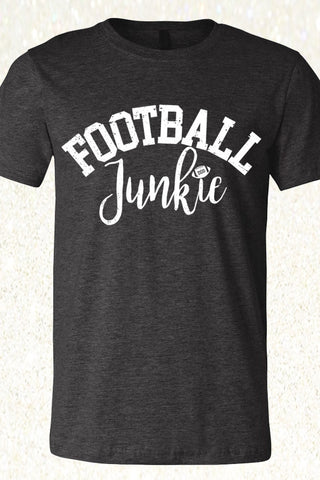 Football Junkie - Heather Charcoal