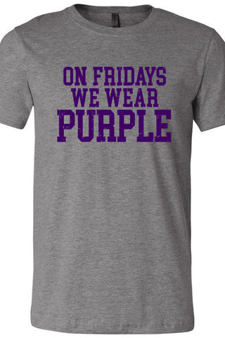 Fridays We Wear Purple Tee