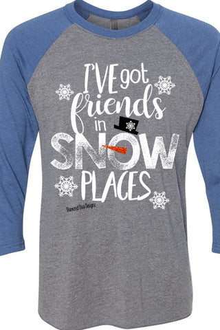 Friends In Snow Places Raglan