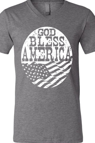 God Bless America Flag V Tee