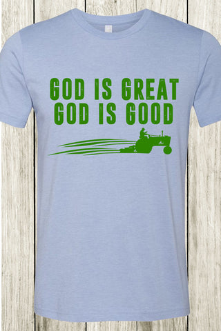 God Is Great Tractor Tee