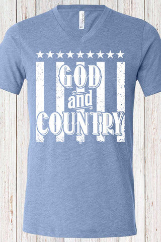 God and Country Triblend Tee