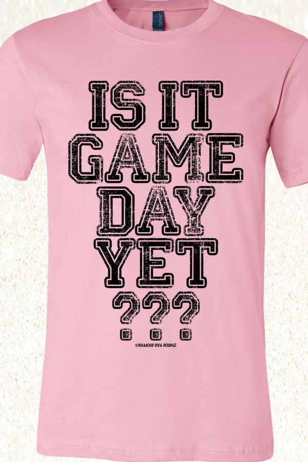 Is It Game Day Yet? Light Pink