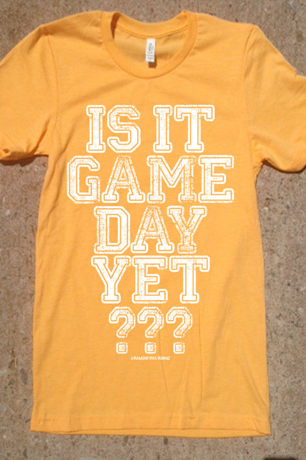 Is It Game Day Yet? Heather Yellow Gold