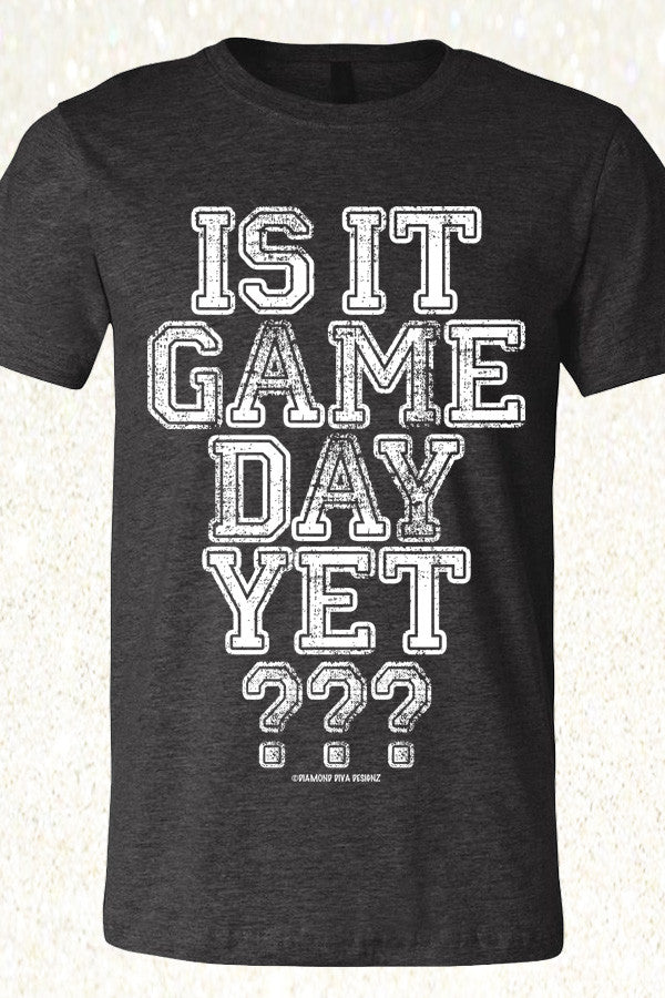 Is It Game Day Yet? Heather Charcoal