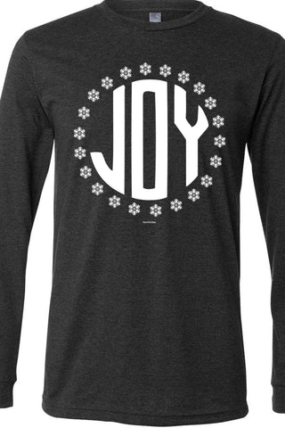 Joy Snowflakes Long Sleeve Heather Dark Gray