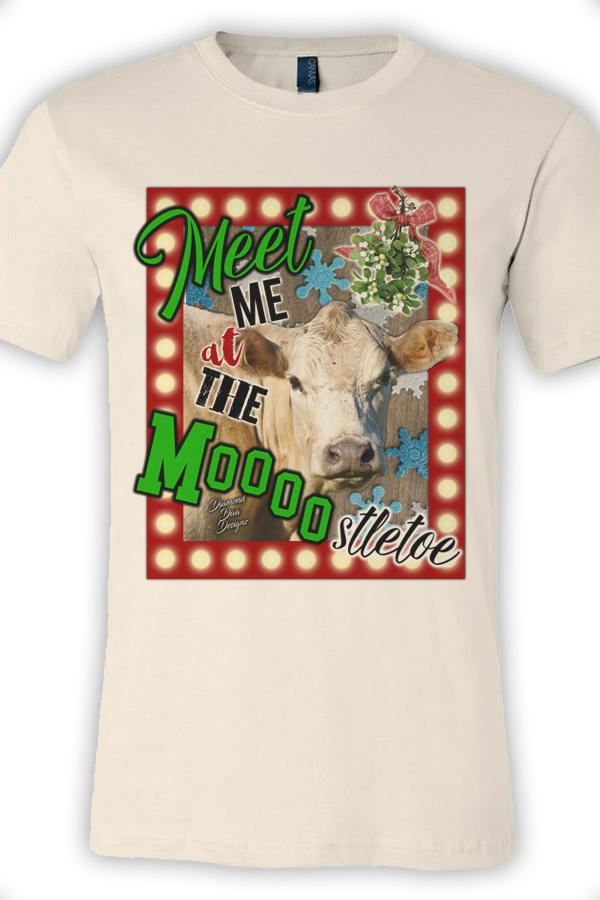 Meet Me At The Moooostletoe Tee