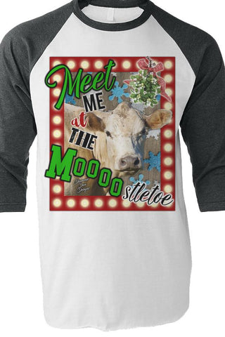 Meet Me At The Moooostletoe Raglan
