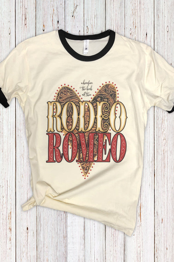 Wherefore The Heck Art Though Rodeo Romeo Ringer Tee