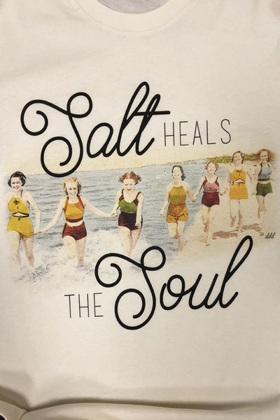 Salt Heals The Soul Cream Tee