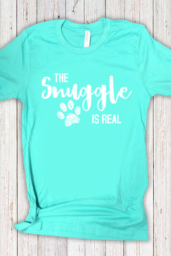 The Snuggle Is Real Tee Teal
