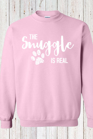 The Snuggle Is Real Tee Teal Sweathirt