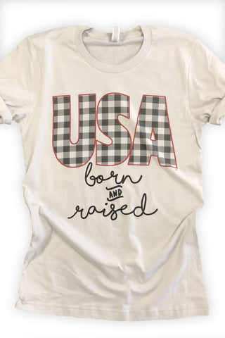 USA Born and Raised Tee