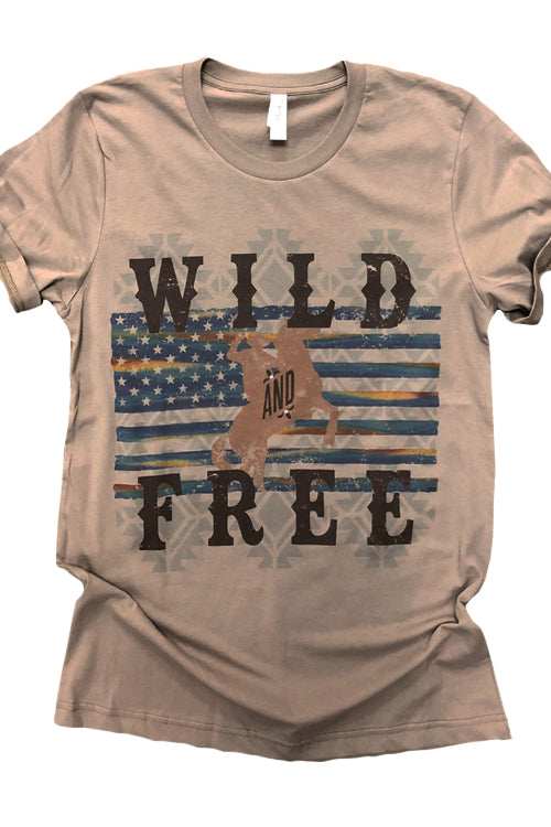 Wild and Free Western Tee