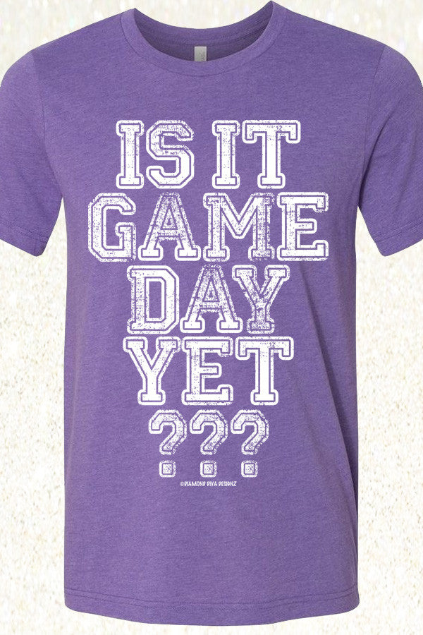 Is It Game Day Yet? Heather Purple