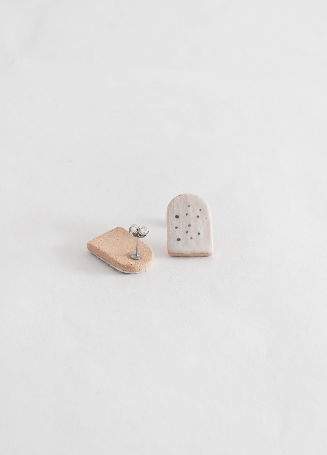 Small Arch Earrings  - Dots