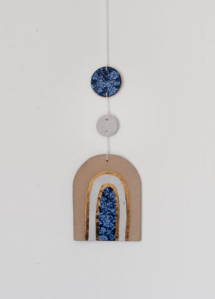 Wall Hanging Arch - Blue & White 002