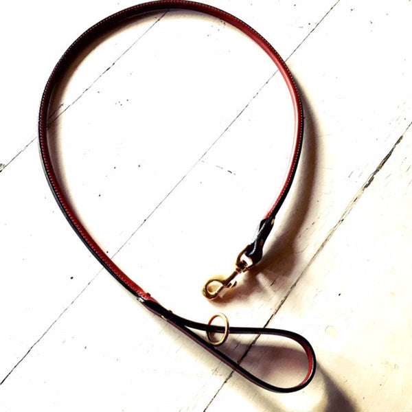 Rolled English Bridle Leather Leash | Snap Lead