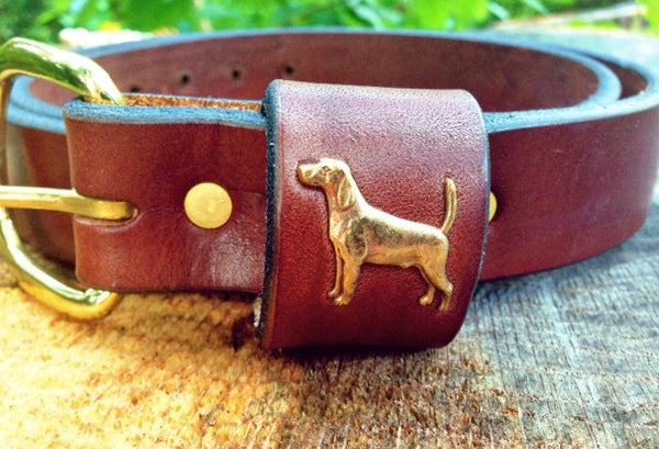 Leather Bird Dog Belt