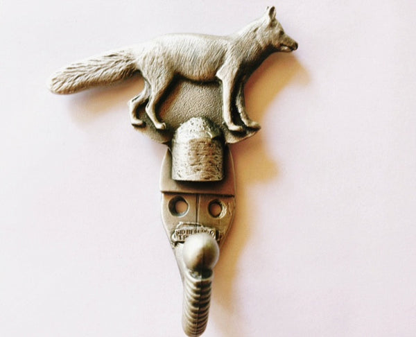 Pewter Fox Coat Hook