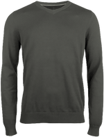 Acronym Sweater Men V neck with elbow  patches