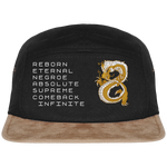Last Dragon 5 Panel Cap Suede Effect Visor