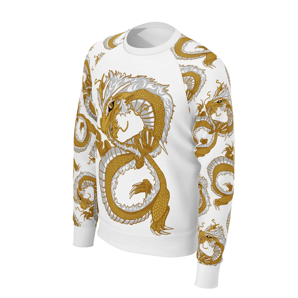 Last Dragon Infinity Long Sleeve Raglan White