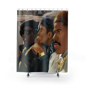The Plan by W.D. Wind Shower Curtain