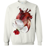 The Love Printed Crewneck Pullover Sweatshirt  8 oz