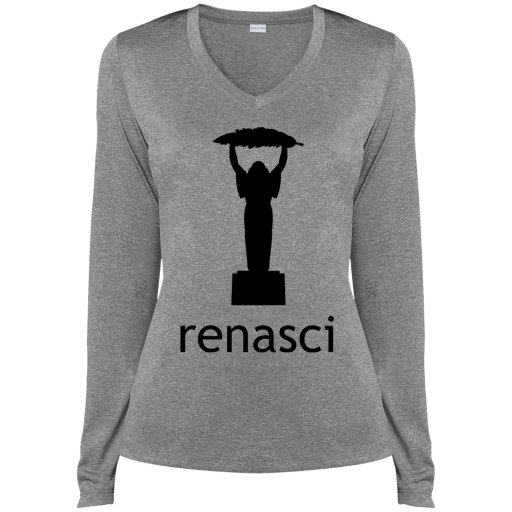 Ladies Remus LS Heather Dri-Fit V-Neck Tee