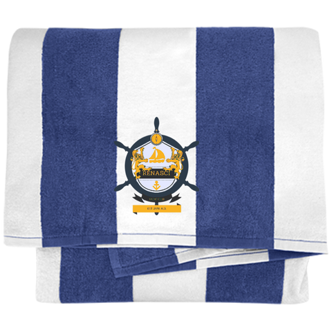 Yacht Club Cabana Stripe Beach Towel