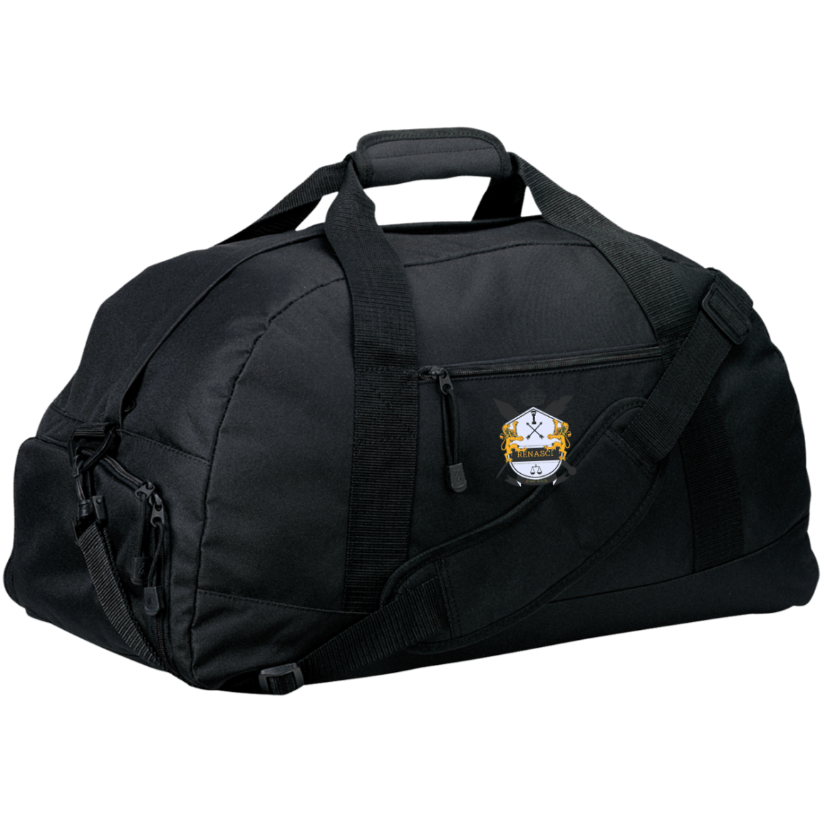 Basic Signature Crest Large-Sized Duffel Bag
