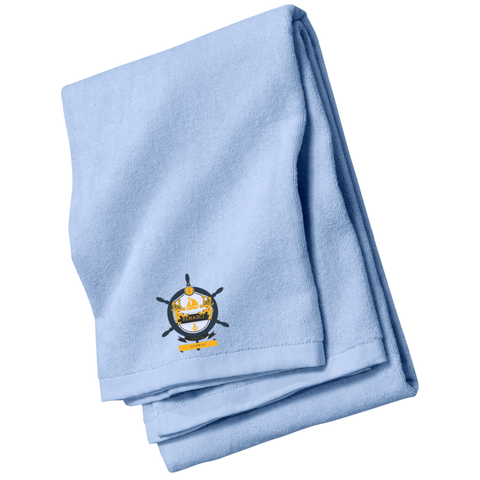 Yacht Club Embroidered Beach Towel