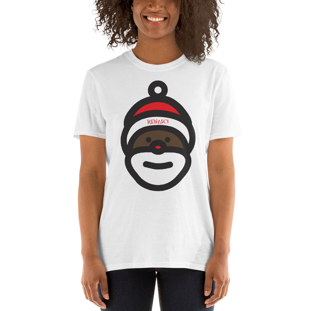 Black Santa Short-Sleeve Unisex T-Shirt