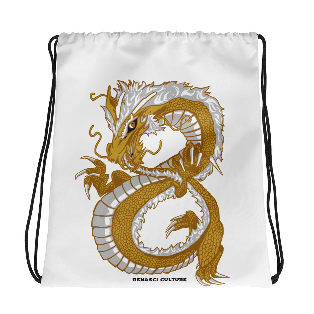 Last Dragon Drawstring Bag