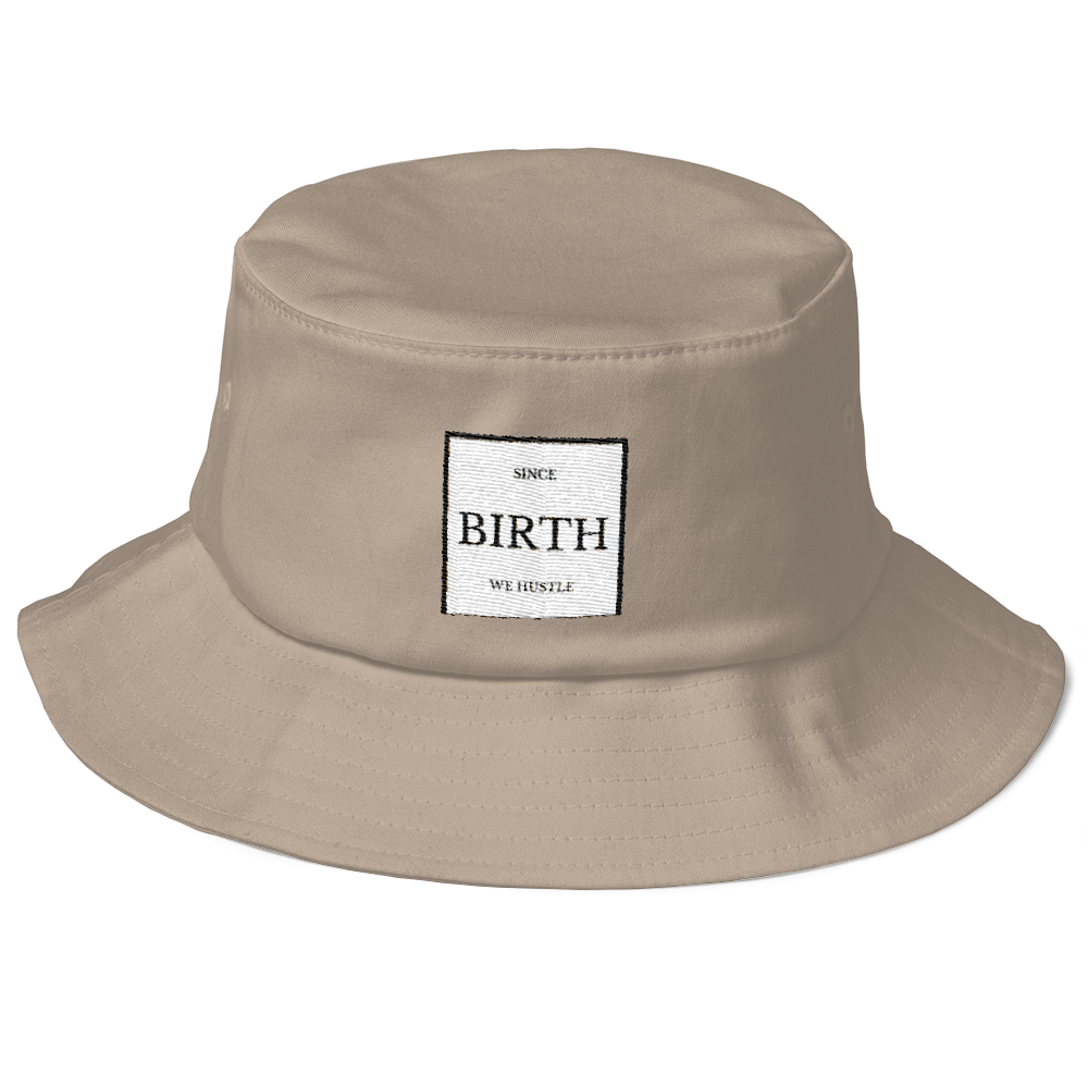 We Hustle Old School Bucket Hat