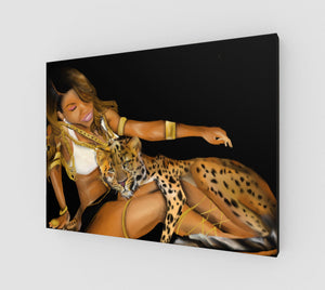 Cheetah Win by W.D. Wind Canvas