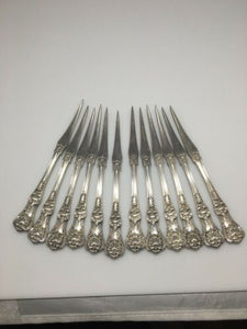 Set Of 12 Tiffany& Co English King Sterling Silver Nut Picks RARE