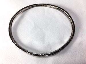 Sterling Silver Small Lines Bangle