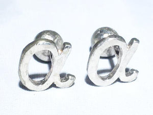 Sterling Silver Alpha Cufflinks