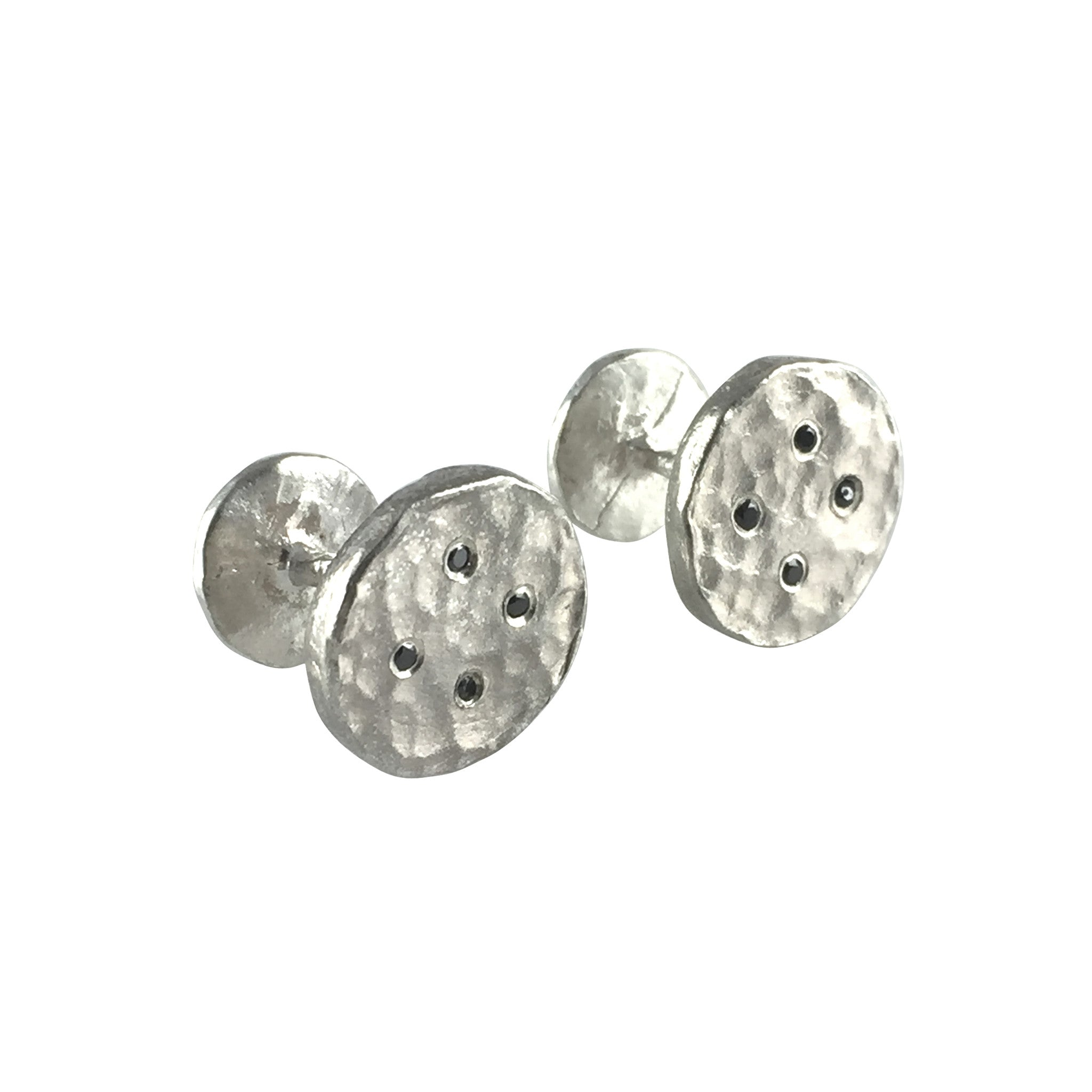 Black Diamond Button Cufflinks