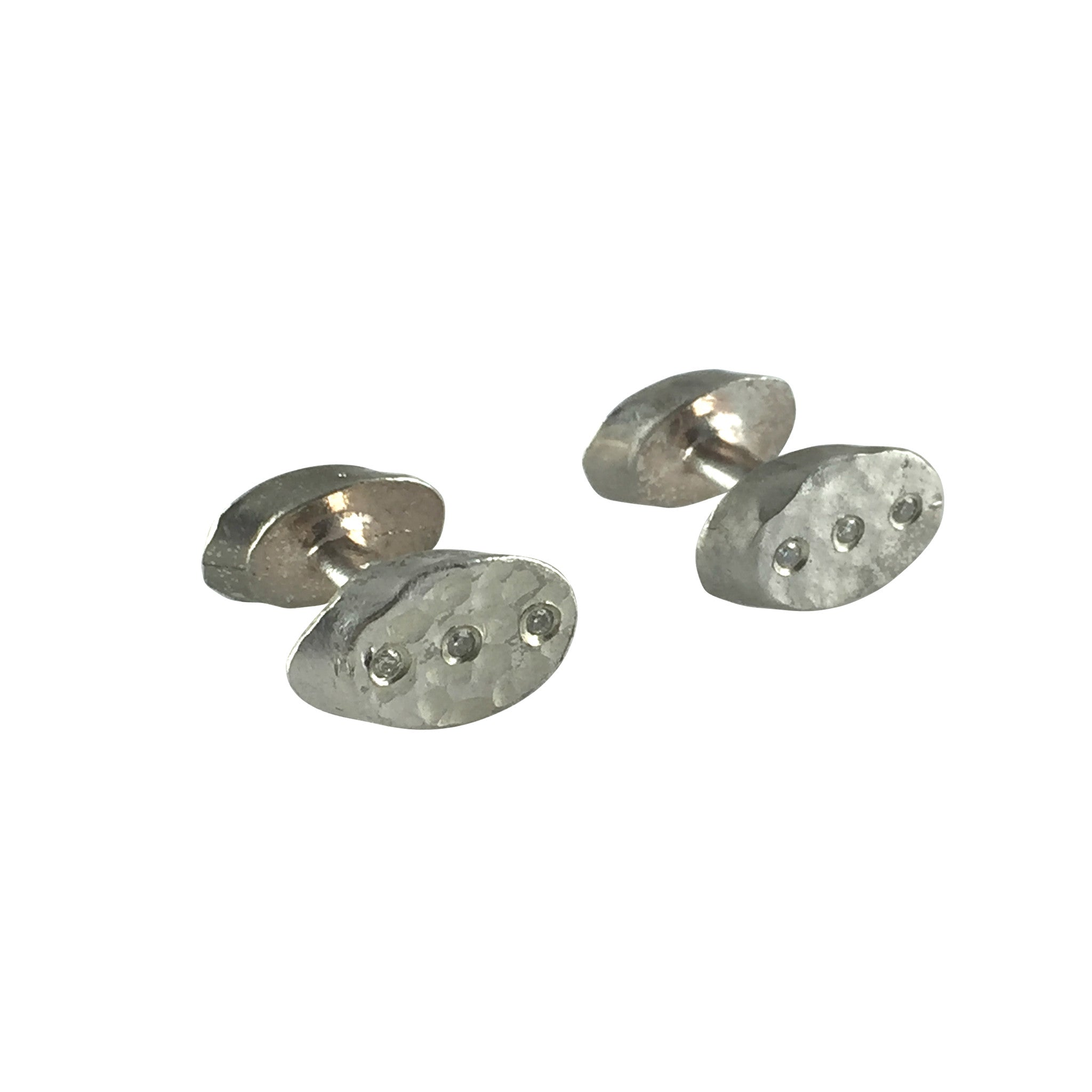 Oval Diamond Cufflinks