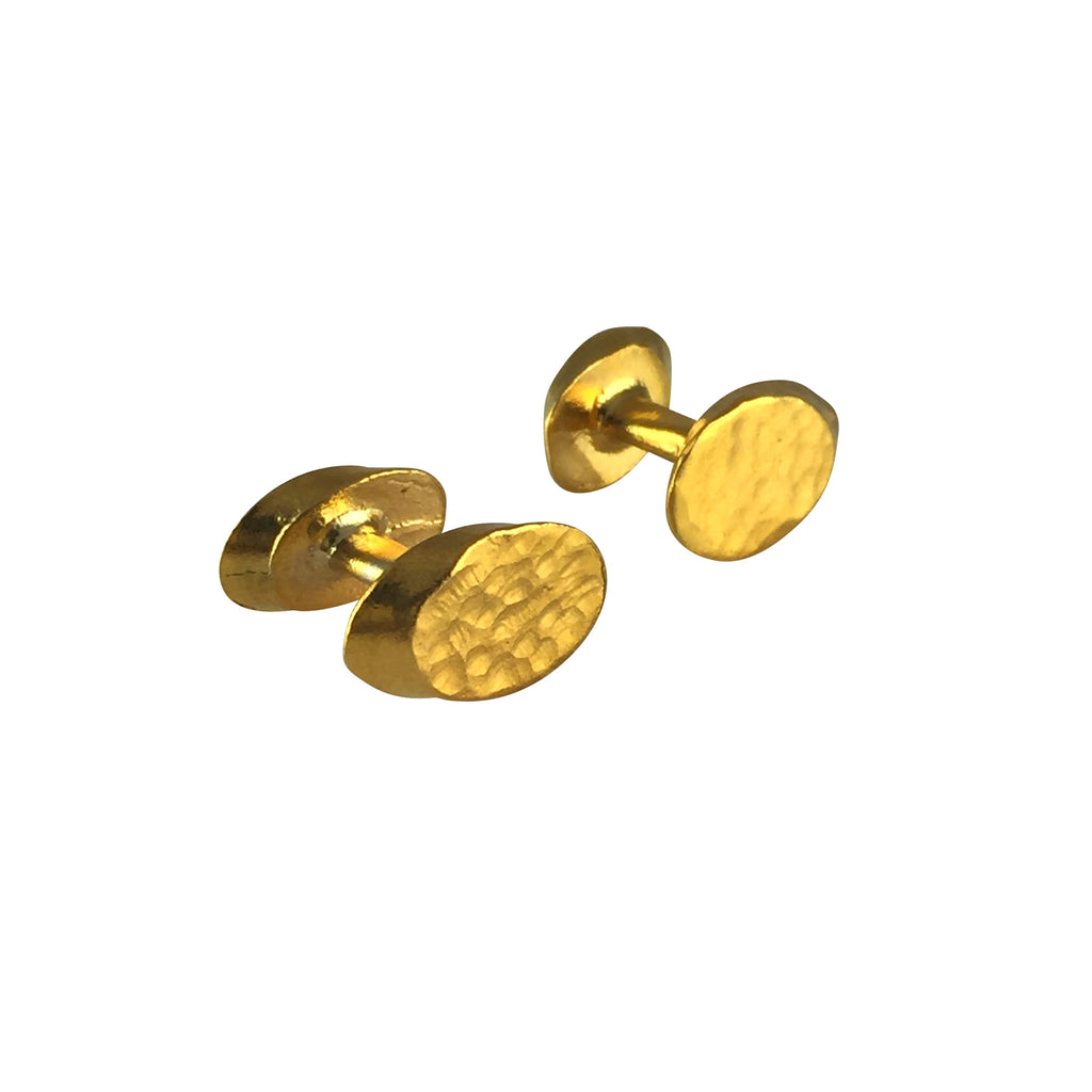 Gold Oval Cufflinks