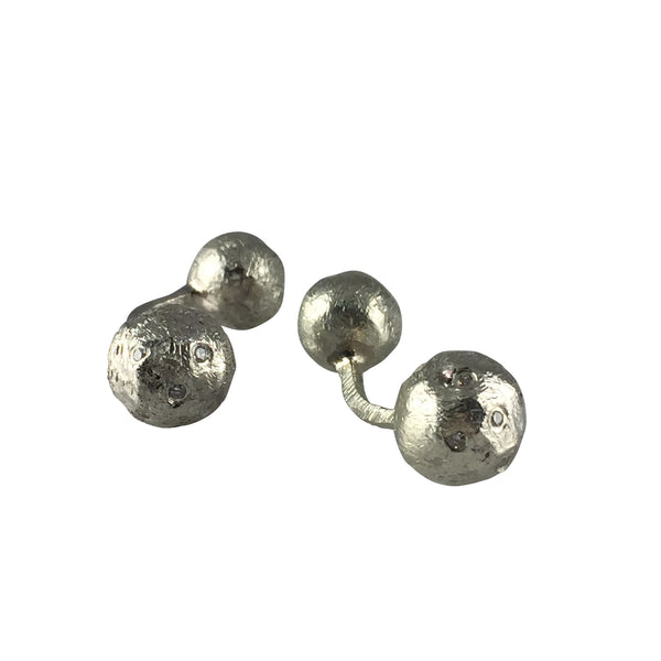 Barbell Diamond Cufflinks