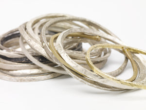 Sterling Silver Thick Locke Bangle