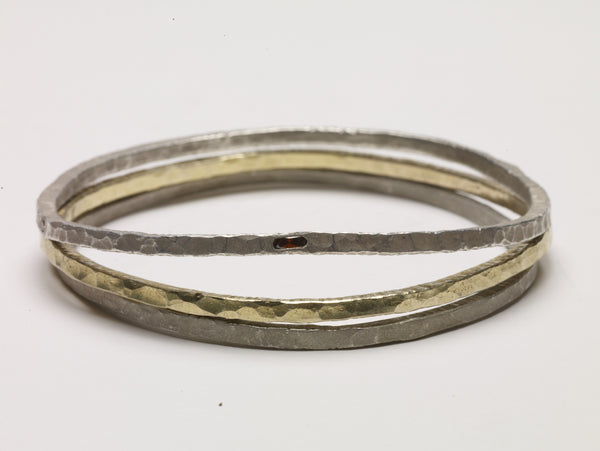 Sterling Silver Multi Bangle Stack